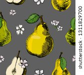 seamless pattern with pear and... | Shutterstock .eps vector #1311829700