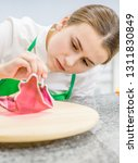 Confectioner Decorates Isomalt...