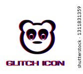 baby panda face icon flat.... | Shutterstock .eps vector #1311831359