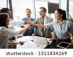 succesful enterprenours and... | Shutterstock . vector #1311834269