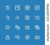 editable 16 photographer icons...   Shutterstock .eps vector #1311835946