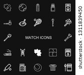 editable 22 match icons for web ... | Shutterstock .eps vector #1311839450