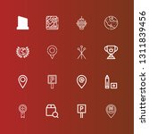 editable 16 place icons for web ...