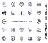 editable 22 guarantee icons for ... | Shutterstock .eps vector #1311839603
