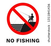 no fishing sign. vector. | Shutterstock .eps vector #1311841436