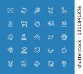 editable 25 mammal icons for...   Shutterstock .eps vector #1311841856