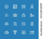 editable 16 photographic icons...   Shutterstock .eps vector #1311841859