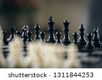 chessboard with a chess piece...   Shutterstock . vector #1311844253