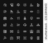 editable 36 corporate icons for ... | Shutterstock .eps vector #1311844643