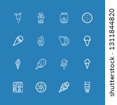 editable 16 cookie icons for...   Shutterstock .eps vector #1311844820