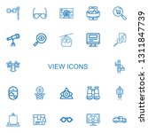 editable 22 view icons for web... | Shutterstock .eps vector #1311847739