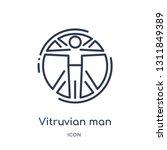 vitruvian man icon from people... | Shutterstock .eps vector #1311849389