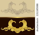 golden ornamental floral frame | Shutterstock .eps vector #131185088