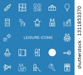 editable 22 leisure icons for... | Shutterstock .eps vector #1311853370