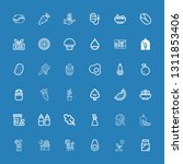 editable 36 organic icons for... | Shutterstock .eps vector #1311853406