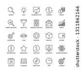 business line icons money...   Shutterstock .eps vector #1311862166