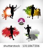 running marathon  people run  ... | Shutterstock .eps vector #1311867206