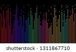 arrows up  neon color gradient  ... | Shutterstock .eps vector #1311867710
