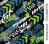 sport  extreme pattern.... | Shutterstock .eps vector #1311868703