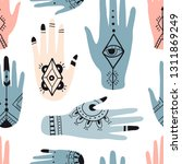 ethnic seamless pattern with... | Shutterstock .eps vector #1311869249