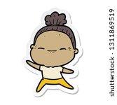 sticker of a cartoon peaceful... | Shutterstock .eps vector #1311869519