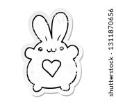 distressed sticker of a cute... | Shutterstock .eps vector #1311870656