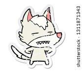 distressed sticker of a cartoon ... | Shutterstock .eps vector #1311871343