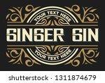 vintage gin label. vector... | Shutterstock .eps vector #1311874679