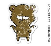 distressed sticker of a bored... | Shutterstock .eps vector #1311874709