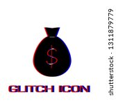 money bag icon flat. simple... | Shutterstock .eps vector #1311879779