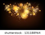 Gold Festive Firework Background