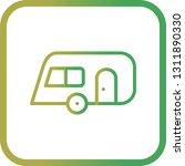 vector caravan icon    Shutterstock .eps vector #1311890330