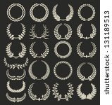 wreath collection on black... | Shutterstock .eps vector #131189513