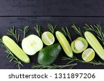 green fruits  vegetables and... | Shutterstock . vector #1311897206