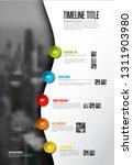 vector infographic timeline... | Shutterstock .eps vector #1311903980
