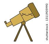 cute cartoon of a telescope | Shutterstock .eps vector #1311905990