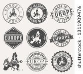 europe set of stamps. travel... | Shutterstock .eps vector #1311909476