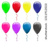 colored balloons on a white... | Shutterstock .eps vector #1311912023