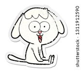 distressed sticker of a cute...   Shutterstock .eps vector #1311912590
