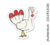 retro distressed sticker of a... | Shutterstock .eps vector #1311913130