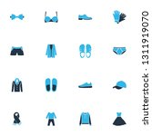 clothes icons colored set with... | Shutterstock .eps vector #1311919070
