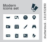 tourism icons set with airplane ... | Shutterstock .eps vector #1311922850