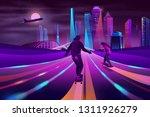 modern metropolis nightlife... | Shutterstock .eps vector #1311926279