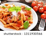 italian style pasta with tomato ... | Shutterstock . vector #1311930566