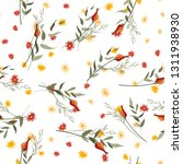 abstract floral drawing.... | Shutterstock .eps vector #1311938930