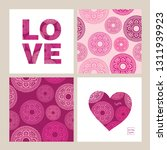 set of greeting cards and...   Shutterstock .eps vector #1311939923