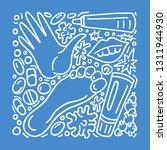 vector doodle set eczema ... | Shutterstock .eps vector #1311944930