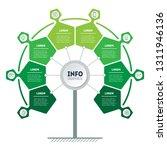 vertical green infographics or... | Shutterstock .eps vector #1311946136