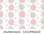 art floral vector seamless... | Shutterstock .eps vector #1311946223