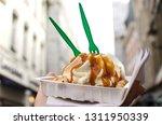 belgian waffles   traditional...   Shutterstock . vector #1311950339